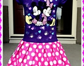 Minnie Mickey Mouse Dress girls size 5/6 Glow in the dark last one Ready To Ship