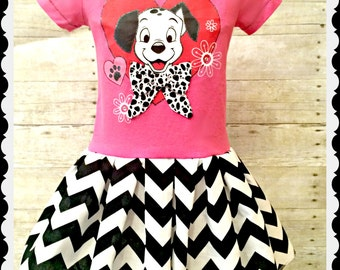 girls Dalmatian dress 101 dalmatian girls 4 and 8/10