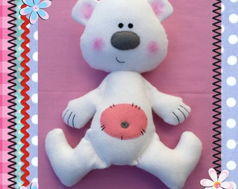 13 inch Polar Bear PDF E-pattern