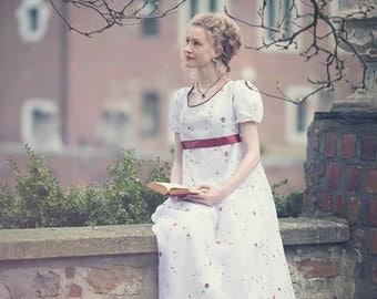 Regency dress, Jane Austen dress, romantic wedding dress, regency gown, pride and prejudice dress, empire dress, maternity wedding dress