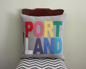 City Pillows // Custom City Pillows // Portland // Austin // Boston // Chicago // London// Los Angeles // Nashville // New York // Seattle