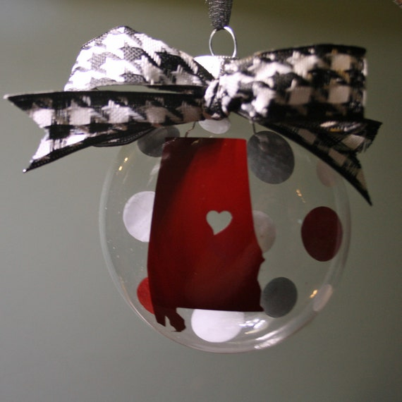 Items Similar To Glass Alabama Ornament: State Shape, All
