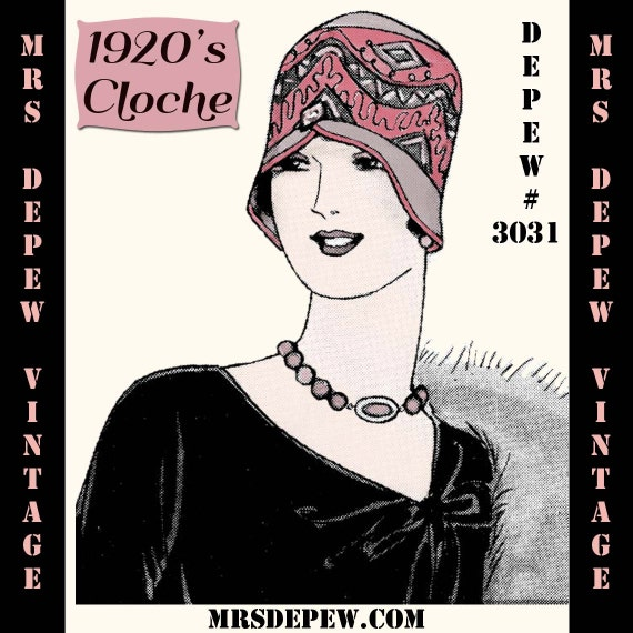1920s Accessories | Great Gatsby Accessories Guide 1920s Spring Cloche Hat Depew 3031 Digital Print at Home E-book -INSTANT DOWNLOAD-Vintage Sewing Pattern 1920s Spring Cloche Hat Depew 3031 Digital Print at Home E-book -INSTANT DOWNLOAD- $5.62 AT vintagedancer.com