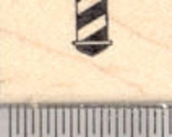 Tiny Barber Pole Rubber Stamp A26829 Wood Mounted
