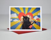 AC is Cupid Greeting Card