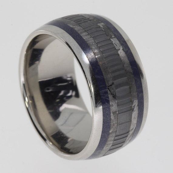 Mens wedding band palladium ring with gibeon by jewelrybyjohan for Mens palladium wedding rings