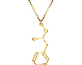 Methamphetamine Molecule Necklace - Gold