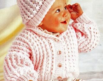 Baby Knitting Pattern, Baby Sweater Knitting Pattern, Newborn and Toddler Knitting Pattern,  INSTANT Download Pattern PDF (2330)