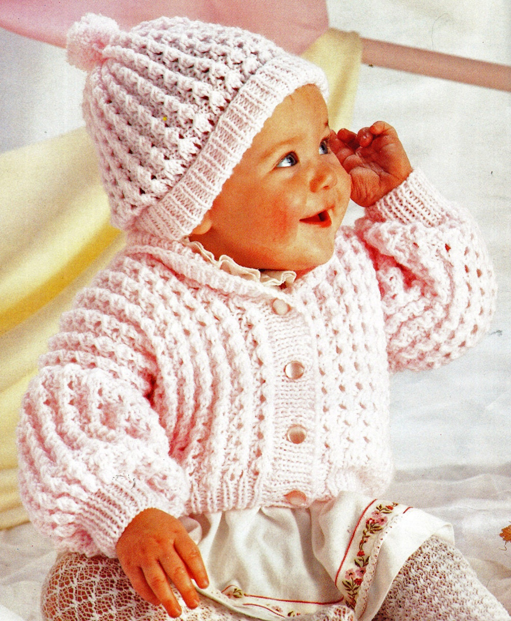 Baby Knitting Pattern, Baby Sweater Knitting Pattern, Newborn and Toddler Kni...