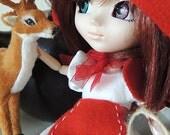 Pullip conjunto Caperucita Roja, sirve para muñecas 1/6, momoko, obitsu, azone, ...