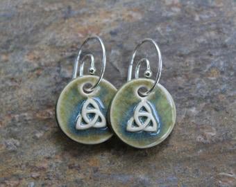 Green Trinity Earrings