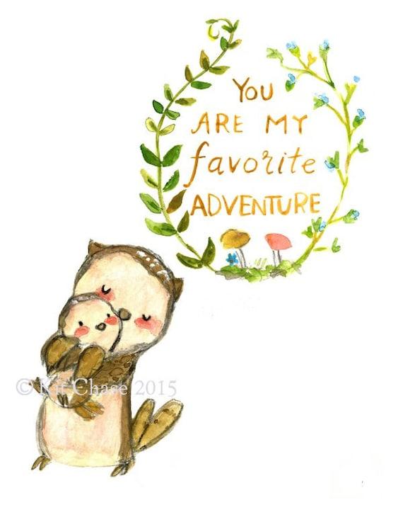 Adventure nursery art : Nursery art my favorite adventure owl by trafalgarssquare