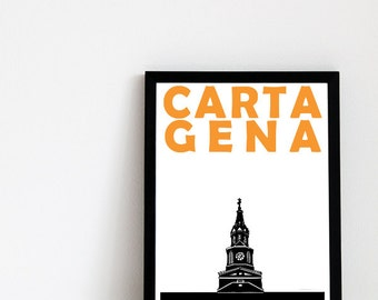 Cartagena Print // Colombia Travel Art Print // Cartagena Art // Cartagena Print // Colombia Print // Colombian Art // Housewarming Gift