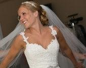Crystal Bridal Sash, Swarovski Rhinestone Belt, Victorian Dress Jewelry, Art Deco Weddings, Silver or Gold Belt, COUNTESSA