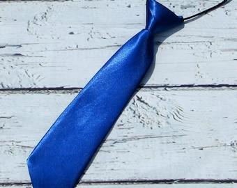 boys blue tie, birthday tie, royal blue wedding ring bearer necktie, photo prop, boys tie, newborn infant toddler kids necktie