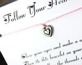 Follow Your Heart - Wish Bracelet - (Itty Bitty Heart) - Shown In The Color  PINK MIST- Over 100 Different Colors Are Also Available