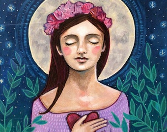 Self Love - Moon Goddess -  Art Print - Art by Regina Lord