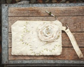 Chantilly Lace Bridal Wristlet Clutch . vintage lace tattered spring pink green shabby bohemian gypsy rustic wedding bridal brides bag