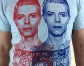 David Bowie Mugshot Mens Tshirt