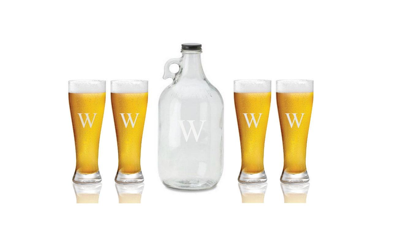5 piece personalized craft beer glass set. Black Bedroom Furniture Sets. Home Design Ideas