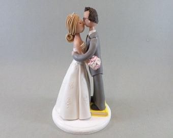 Short Groom On Book Custom Handmade Wedding Cake Topper