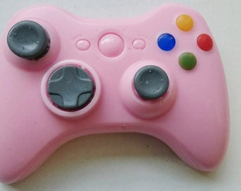 Xbox 360 Controller Soap, New Pink Color, Strawberry Rhubarb Pie Scented, Video Game Geek Gift