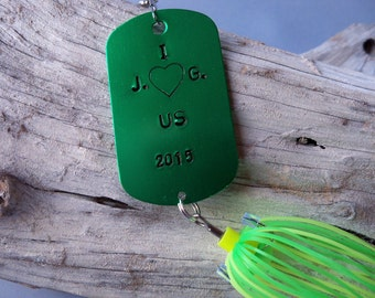 Personalized Gifts For Men I Love Us Personalized Fishing Lure For Husband Boyfriend Anniversary Wedding New Husband Nautical Wedding Gift
