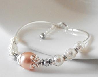 Peach Pearl Bracelets