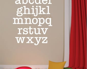 Alphabet Wall Decal - ABCD wall sticker - vinyl lettering - kids room alphabet letters wall decor - alphabet wall decal letters - lower case