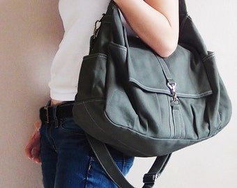 Halloween SALE - 20% OFF Classic in Army Green / diapers bag / School / Shoulder Bag / Hobo / Purse / tote / women / For her