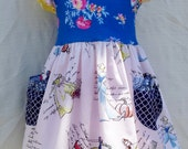 Girls Princess Toile Dress- Toddler  Dress- Snow White -Cinderella Knit flutter Dress Style 3mo-7yrs by Outtahand Creations Boutique