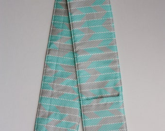 Camera Strap Cover- lens cap pocket and padding included- Grey and Teal Chevron
