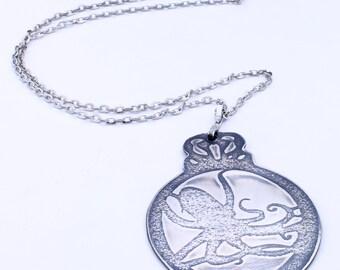 Sterling Silver Nautical Ocean Sea Life Octopus Necklace Pendant