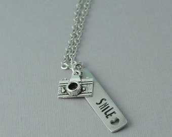 Smile Necklace / Camera necklace / Personalized necklace