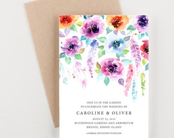 Garden Wedding Save The Date, Bridal Shower, Wedding Invitation