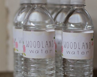 Woodland Water Printable Labels