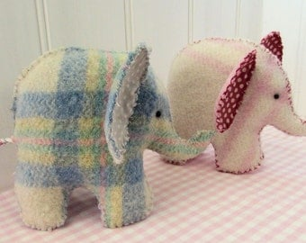 Cute Baby Elephant Felt Softie Pattern pdf download