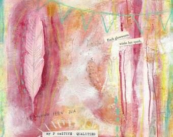 think positive - ART CARD - ecofriendly