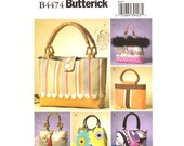Womens Handbag Pattern Butterick 4474 Tote Bag Purse Sewing Patterns DIY UNCUT