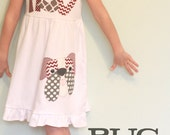 Mississippi State Bulldogs Dress for Girls - SHORT SLEEVE - By Bug & Bell