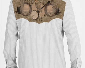 the Hombre Shirt UPcycled alt country mens button front