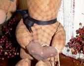Primitive Little 'Ole Faded Teddy Bear   HAFAIR