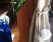 Nautical Tieback- 2 rope curtain tie back - drapery holder - pure cotton - nautical decor
