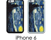 iPhone 6S 6 or PLUS Starry Starry Night Reproduction Your Choice of Trim Hard, Rubber or Tough Cases