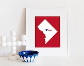 Washington DC is My Home // 8x10 Digital District of Columbia Print // Two Options
