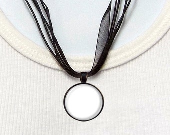 Four Templates - 1 Inch Round Tray Pendants on Ribbon