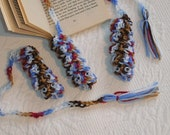 """5 Crocheted Book Worms with moving eyes for readers of all ages,  size approximately 15"""" long.  Ready to Ship."""