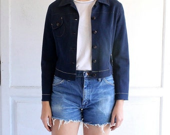 SALE vintage MIU MIU indigo jacket made in Italy xsmall