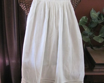 """Antique Victorian Ivory 32"""" Long Baby Christening Gown Dress"""
