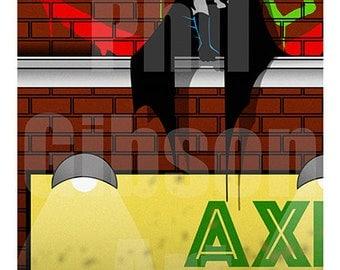 "Original ""Axis Chemicals"" Art Print Poster Batman Joker Dark Knight Comic Book"